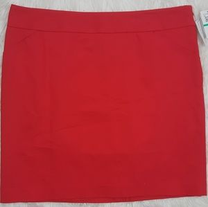 Amanda Chelsea Women's Red Skirt NWT Size 16 Solid